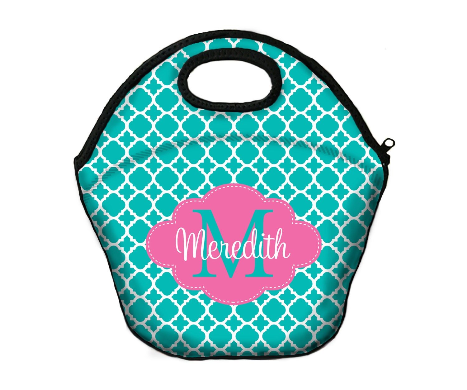 Insulated lunch bag monogrammed box tote for girls