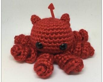 Devil Octobaby Plush Crochet Octopus Toy