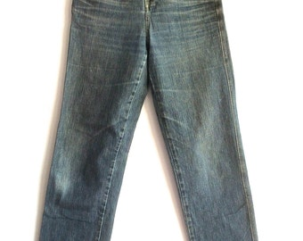 80s Girbaud mom jeans Marithe and Francois Girbaud high waisted jeans patina broken in high waist 90s jeans faded jeans