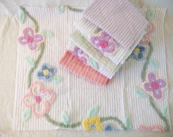Floral Chenille Fabric Cuts ~ Pillow Fronts