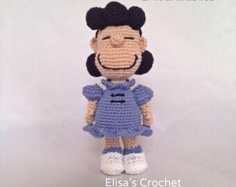 CROCHET PATTERN - Lucy van Pelt Crochet Amigurumi - pdf only