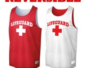 Reversible Lifeguard Tank top. Moisture-wicking tank