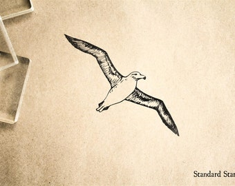 Albatross Flying Rubber Stamp - 1 x 2 inches