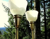 Pair of Large Art Deco Torch Lamps - Brass Art Deco Lamp - Large Brass Lighting - 1930s Lamps - Pair of Art Deco Lamps