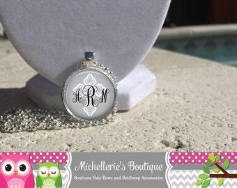 Cross Monogram Pendant, Monogram Jewelry, Monogram Accessories, Bridesmaid Gift, Gifts under 10, Gifts for Her, Cross Jewelry