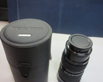 Vintage Soligor auto zoom 35-140mm f:3.5 Macro MC lens With Case