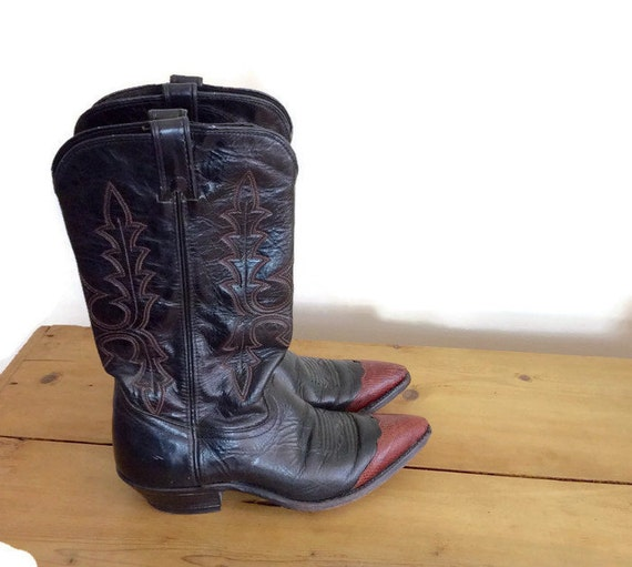 vintage leather cowboy boots vintage western womens boots