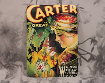 Metal Magician Light Switch Cover - Carter the Great -  1T Single Toggle