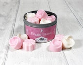 Soy Wax Melts: English Rose, tin of 12 luxury soy wax melts/tarts, handmade, unisex gift, home fragrance