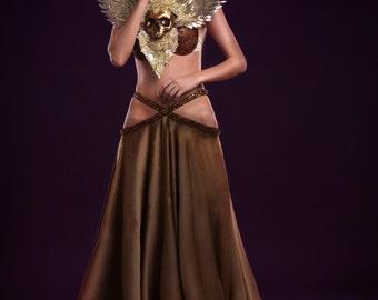 Bellydance fantasy skirt oriental dance tribal fusion
