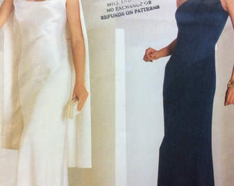 Formal Dress Evening or Floor Length By Tom and Linda Platt - Vogue American Designer Sewing Pattern 2686 **Cut/Size 12/Bust 34""