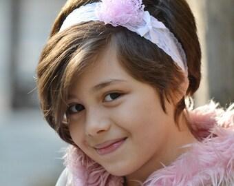 Pink headband, baby headbands,  baby headband , lace headbands, baby girl headbands, flower headbands, baby shower gift, baby hairbows, hair