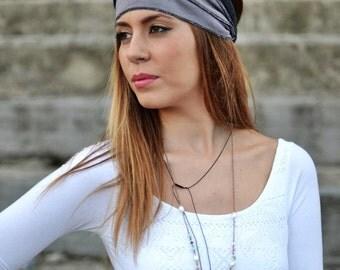 Grey Purple, Dark Grey Headband, Bandana Headband, Elastic Headband, Fitness Headband, Vintage Headbands, Turban Headband, Womens Turban