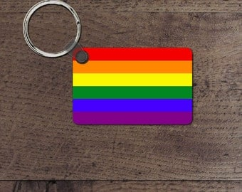 LGBT pride flag key chain