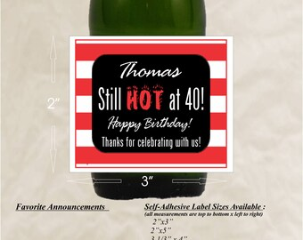 Hot Sauce Labels, Birthday Labels, Wedding Labels, Beer Labels, Wine Labels, Birthday Stickers, Fathers Day (Set of 24)(LHot)
