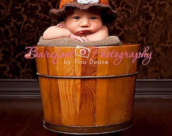 6-9 months - Adorable Thanksgiving Pilgrim Baby Hat