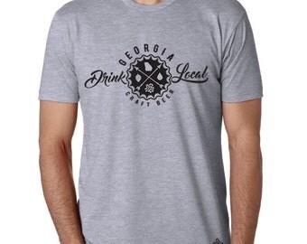Craft Beer Shirt- Drink Local Georgia t-shirt