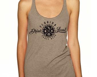 Craft Beer Shirt- Drink Local Florida women's tank top