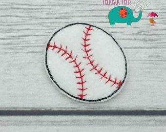 Baseball or Softball set of 4 UNCUT wholesale felties, felt embellishment, hair bow centers, hair accessories, scrapbook supplies applique