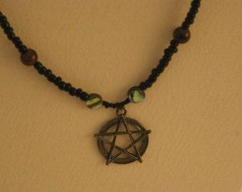 Black Pentagram Necklace