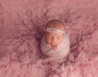 Wrap Set, Pink Wrap Set, Flower Headband, Newborn Headband, Halo Headband, Newborn Wrap Set, Photography Props, Newborn Props, Photo Props