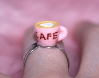 COFFEE RING // Kawaii Cafe Hot Drink Chai Tea Latte Cyber