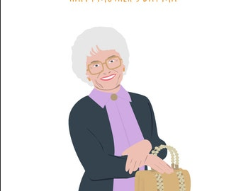 Golden Girls - Happy Mother's Day May - Sophia Petrillo - Funny Mother's day Card