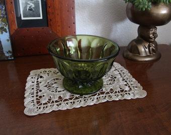 Green Glass Dish / Bowl