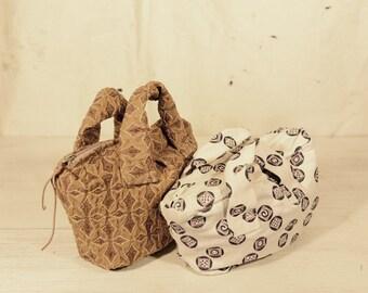 mini off white brocade bag