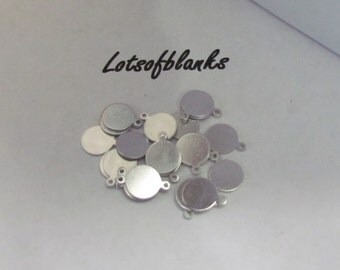 """3/8""""  Round tag - 20 G - Deburred - Tumbled blanks - Jewelry tags - tiny blanks//stamping tags//hand stamping supplies//5 count or more"""