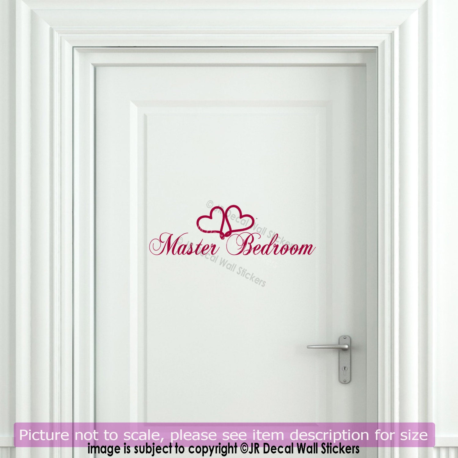 Master Bedroom Door Sign Home Decor Wall Decals Removable
