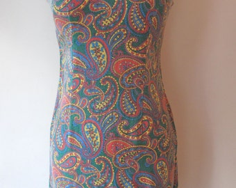 1960s-70s Paisley Mini Dress