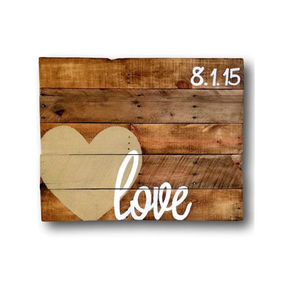 Wood Love Sign Unique Guest Book Rustic Wedding Sign