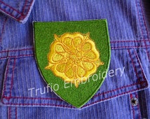 Game of Thrones styled sigil - House Tyrell iron-on patch/badge