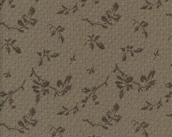 Taupe Fabric Centenary 21st Collection from Yoko Saito Japanese Cotton Quilting Fabric by the Half Yard YSC31245-80