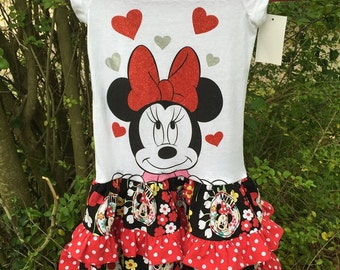 Minnie Mouse Tiered Ruffled Dress
