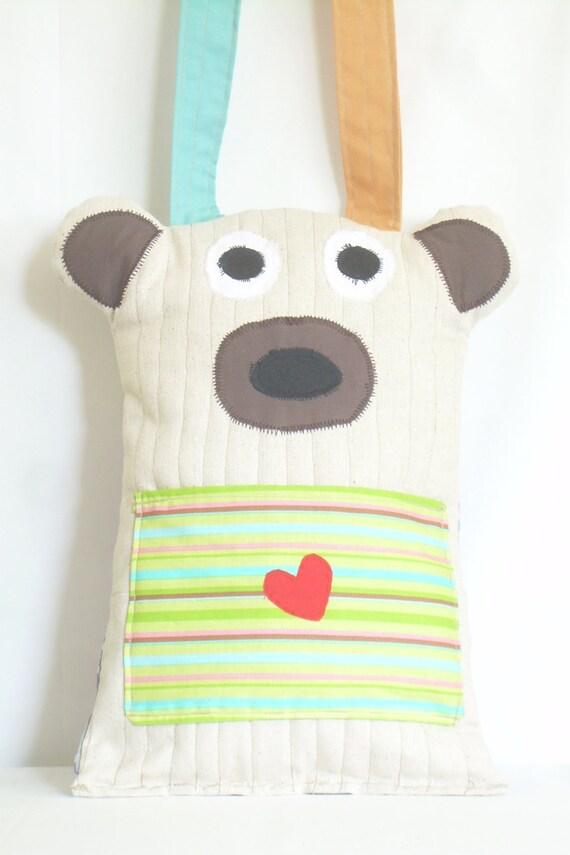 Cute Tablet Pillow : Kids Travel Bear Pillow Pocket Pet Tote Tablet by PillowPocketPets