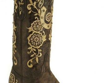 """Old Gringo Boots Womans """"Lucky """"Swarovski Crystals sz 9"""