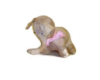Handmade Pink Lavender Elephant - Felted Sweater Stuffed Animal - Upcycled Cashmere Elephant Plushie - Eco Friendly Plush Toy