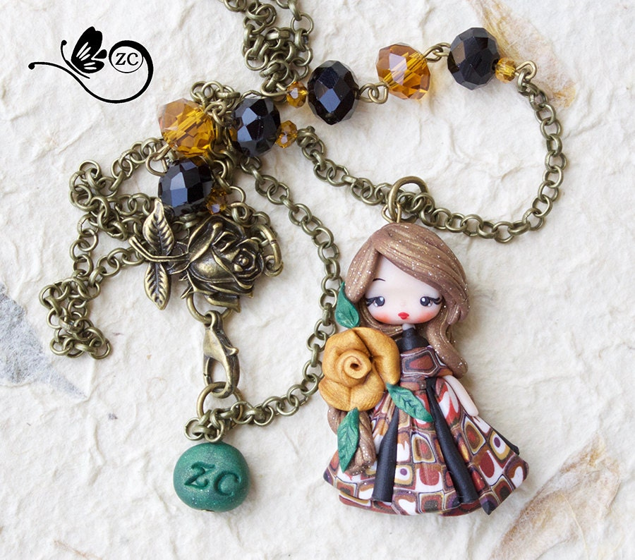 polymer clay necklace fairy clay fimo zingara creativa