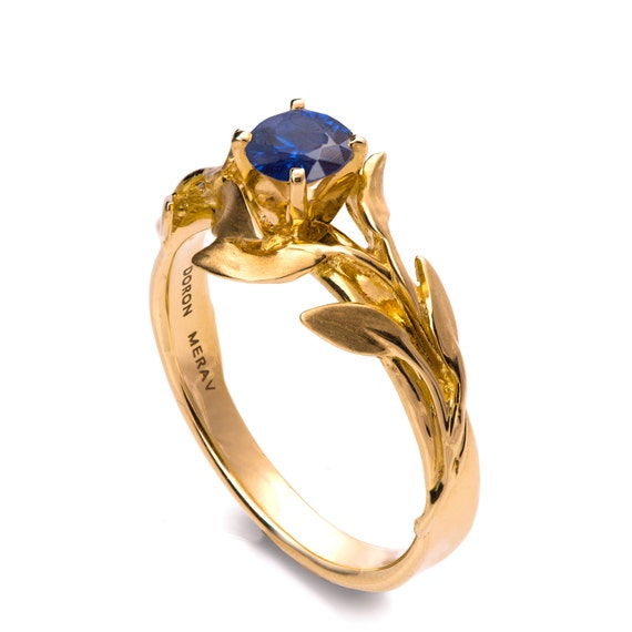 Hard-Working 14k Solid White Gold~sapphire & Genuine Diamond Butterfly Unique Ring~butterfly Other Fine Rings