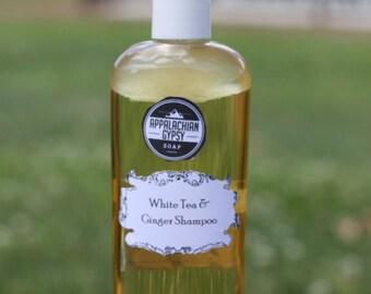 Hand Crafted Shampoo - White Tea & Ginger Shampoo