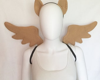 Daring Do Costume with wings and ears, Daring Do cosplay, Daring Do costume brown pegasus costume