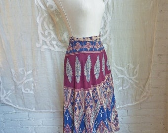Indian Cotton Wrap Skirt