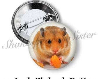 "Hamster Pinback Button - 1.5"" Pinback - Hamster Pin - Cute Pinback Button - Funny Pinback Button"