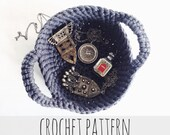 PATTERN for Crochet Nesting Bowl Jewelry Catch-All Dish // Rue Des Abbesses Catch-All Bowl PATTERN