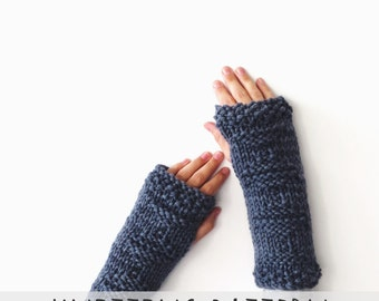 PATTERN for Knit Fingerless Gloves Arm Warmers Gauntlets // Les Philosophes Fingerless Gloves PATTERN
