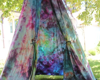 Galaxy play tent, starry night bed Canopy, Galaxy dyed bedroom decor