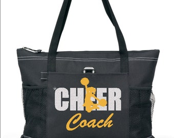 """20"""" CHEER COACH Sports Bag with choice of Cheer leader color. design. Ships FREE in 1 to 3 days."""