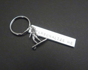 Keychain surf, surfer girl gift, beach house, housewarming accessories